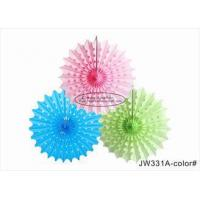 Buy cheap 30cm 40cm Tissue Paper Fan Decorations Diy White Pink Blue Yellow For Party from wholesalers