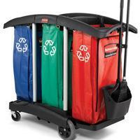 Buy cheap Janitor cart-Triple Capacity Cleaning Cart-Black[9T92BLA] from wholesalers