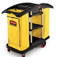 Buy cheap Janitor Double Capacity Cleaning Cart-Black[9T79BLA] from wholesalers