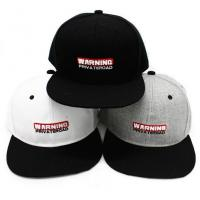 Buy cheap Cool Warning caps embroidery logo snapback hat from wholesalers