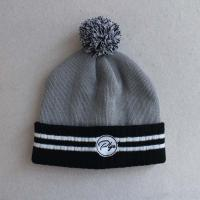 Buy cheap Unisex simple beanie hat with custom embroidery logo pom pom hat from wholesalers