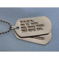 DogTag dog tag necklace Metal dog tag/ Military dog tag/ Stainless steel dog tag