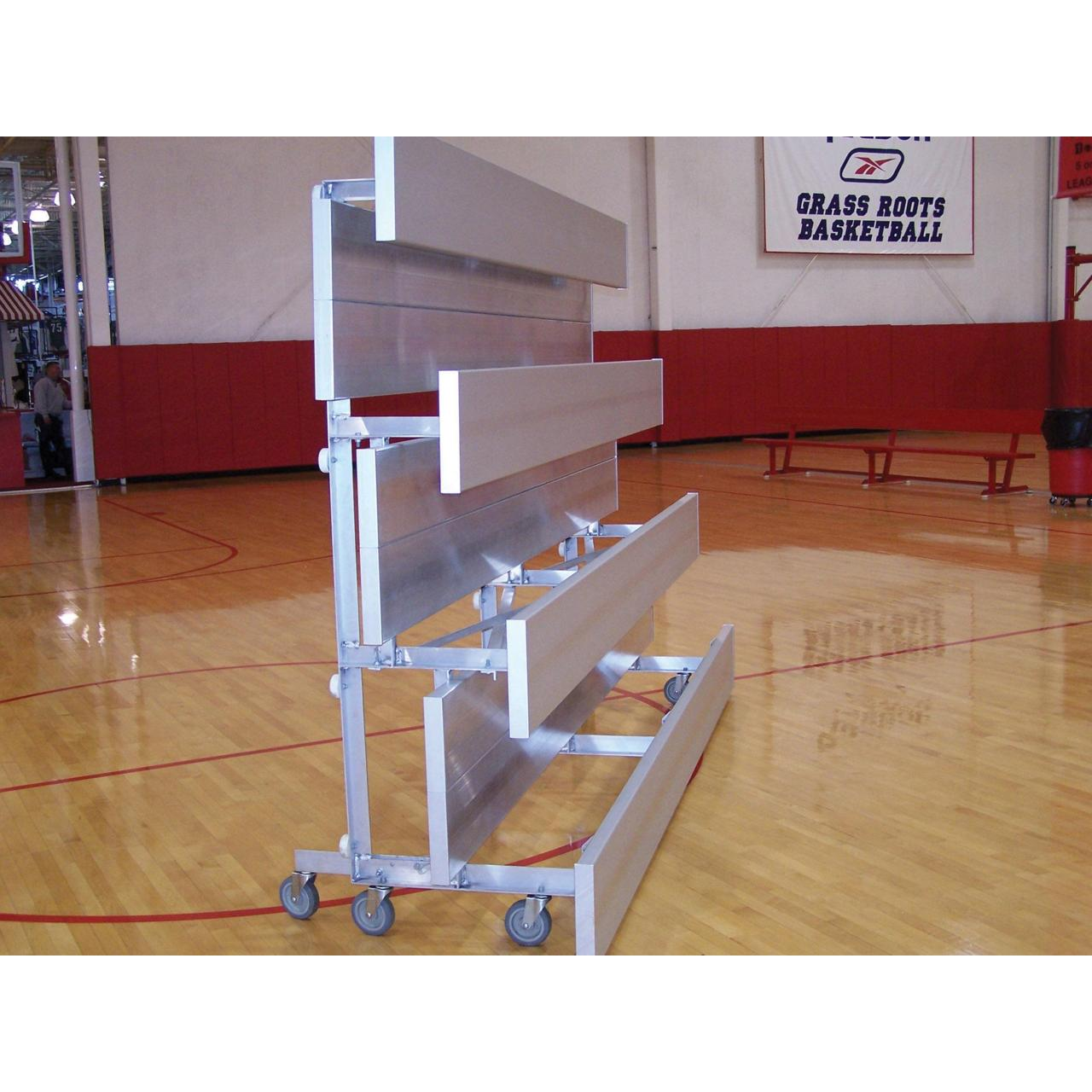 Buy cheap Baseball-Softball Tip-N-Roll Bleachers 4 Row 7.5' Tip-N-Roll Bleacher from wholesalers