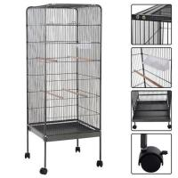 Buy cheap Large Parrot Bird Cage Play Top Pet Supplies w/Perch Stand Two Doors Iron from wholesalers