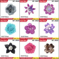 Buy cheap Black Bow Design Shoes DIY Handmade Fabric Chiffon Flower Accessories for Dress and Shoes from wholesalers