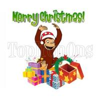 Buy cheap Curious George Christmas T Shirt Iron on Transfer #8 from wholesalers