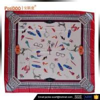 Buy cheap Factory direct wholesale custom digital printed 100 silk satin square scarf from wholesalers