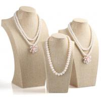 Buy cheap Linen Jewelry Bust Necklace Bust Display Stand from wholesalers