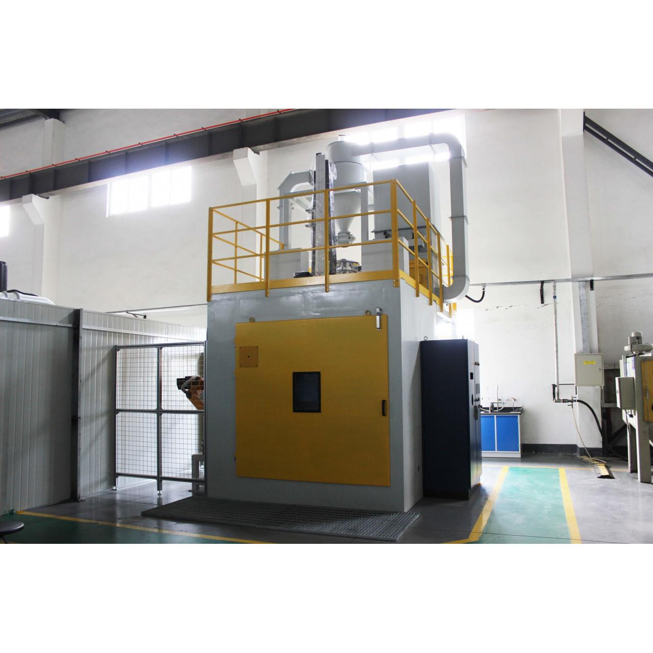 Buy cheap Planetary turret type robot shot peening machine / shot blasting machine from wholesalers