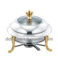 Buy cheap luxury chafing dish chafing dish fuel with gold stand from wholesalers