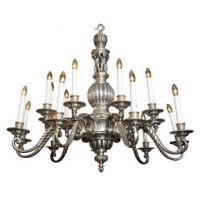 16-Candle Silvered Regency Style Chandelier Stock Number: L44