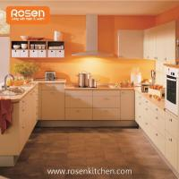 Buy cheap Vinyl Wrapped MFC Wood Grain Melamine Faced Chipboard Door Kitchen Cabinets from wholesalers