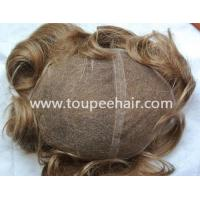 Buy cheap Toupee for Men French lace with Swiss lace front mens toupee from wholesalers