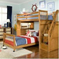 Buy cheap Kids Room Loft Bed with Stairs from wholesalers