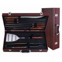 Buy cheap Wooden case,Bamboo case 8-pc bbq tool sets from wholesalers