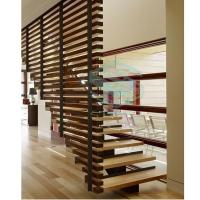 Buy cheap Steel Wood Stairs with Single Beam Modle S-ST005 from wholesalers