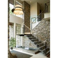 Buy cheap Steel wood stairs with single beam from wholesalers