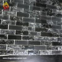 Buy cheap Bliss Iceland Marble and Glass Linear Mosaic Tiles for Kitchen Backsplash or Bathroom Walls from wholesalers