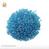 Buy cheap 2-4mm Sea Blue Swimming Pool Irregular Iridescent Glass Beads from wholesalers