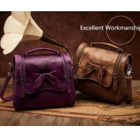 Buy cheap Leather&Canvas product Retro Cowhide Genuine Leather Handbag product
