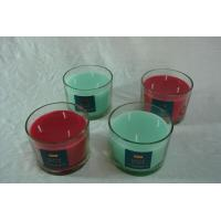 Buy cheap Large glass jar candle with three wicks from wholesalers