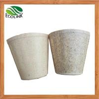 Buy cheap Bamboo Fiber Nursery Pots Bamboo Fibre Mini Flower Pot from wholesalers