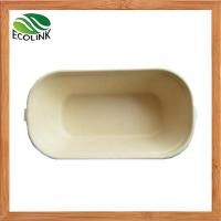 Buy cheap Biodegradable Disposable Bamboo Pulp Food Container from wholesalers