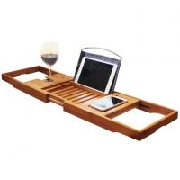 Buy cheap Bamboo Bathtub Caddy Tray With Extending Sides from wholesalers