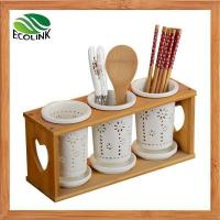 Buy cheap Ceramics & Bamboo Kitchen Utensils Holder Organizer Caddy For Utensil, Spatula product