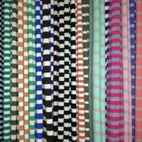 Buy cheap 40s 95 cotton 5 spandex yarn dyed striped jersey knit fabric for shirt from wholesalers