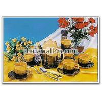 Buy cheap Colored wares CT317 3-tone tea set 13 pcs from wholesalers