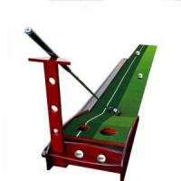Buy cheap Solid Wood Ball Return Channel Indoor Golf Putter Trainer Practice Mat from wholesalers