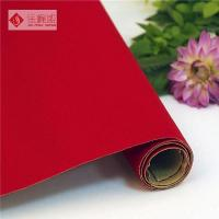 Buy cheap Hot Sale Red Self- Adhesive Roll Flocking Paper for Photograph Backing from wholesalers