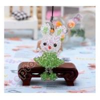 Buy cheap 4mm rondelle crystal beaded rabbit charm animal mobile phone ornament GIFTS from wholesalers