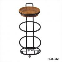 Buy cheap Three Tier Floor Standing Wicker Basket Display from wholesalers
