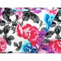 Buy cheap Spandex fabric for swimming diving with a variety of rose peony flowers printed from wholesalers