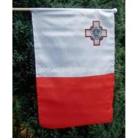 Buy cheap Malta Polyester Hand Flag With Wooden Pole from wholesalers