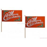 Buy cheap Merry Christmas Red Hand Waving Flag from wholesalers