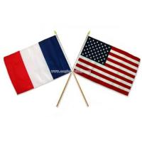 Buy cheap American & France Stick Flag from wholesalers