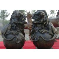 Buy cheap Large outdoor sculptures bronze lion statues with ball for sale from wholesalers