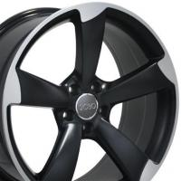 Buy cheap Wheels for Audi 18 Fits Audi - S4 Wheel - Matte Black Mach'd Face 18x8 from wholesalers