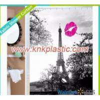 Buy cheap New Panel Design Custom Shower Curtain, Photo Printing Paris Eiffel Tower Shower Curtain Bathroom from wholesalers