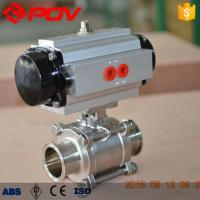 Buy cheap Ball Valve PTFE Cavity Filler Pneumatic 3pc Clamp Ball Valve from wholesalers