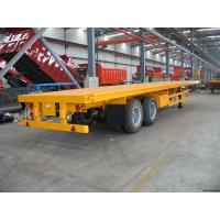 Buy cheap 3 Axle 18 Wheeler 40 Ft Commercial Utility Flatbed Semi Trailer from wholesalers