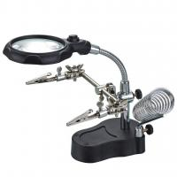 Buy cheap iKKEGOL Helping Hands Magnifier LED Glass Adjustable Alligator C from wholesalers