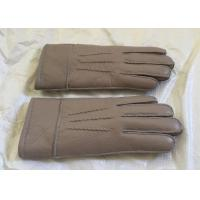 Buy cheap Double Face Mens Sheepskin Lined Leather Gloves Soft Warm For Winter / Driving from wholesalers