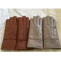 Buy cheap Windproof Men'S Shearling Sheepskin Gloves, Thick Fur Lined Leather GlovesMittens from wholesalers