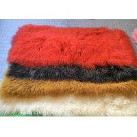 China Dyed Mongolian Luxury Fur Throws For Sofas , Small Long Wool Sheepskin Rug on sale