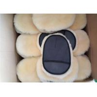Buy cheap Sheepskin Car Wash Mitt Single Side Lambs Wool Car Detailing Polishing Glove from wholesalers