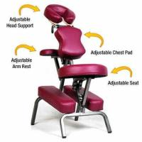 Buy cheap Ataraxia Deluxe Portable Folding Massage Chair w/Carry Case & Strap - Burgundy from wholesalers